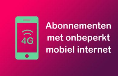 abonnement onbeperkt mobiel internet