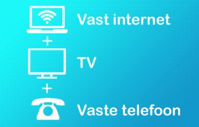 vergelijk internet tv telefoon